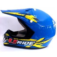 CASQUE CROSS URIDE BLEU