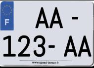 Plaque PVC homologuée 210x130 moto/quad